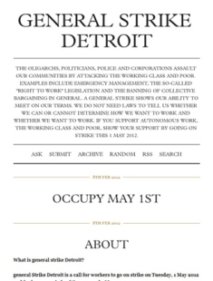 general strike Detroit tumblr forum