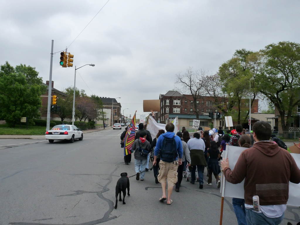 assembly at Clark Park and march to Roosevelt Park 25
