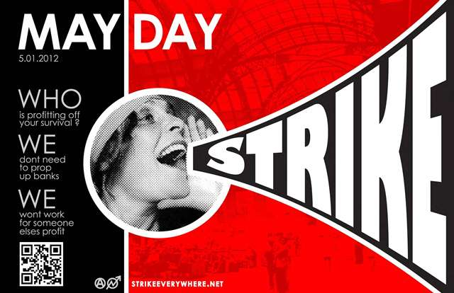 May Day Strike poster